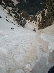 Skiing near the top