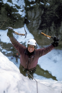 Getting to the top of an ice climb